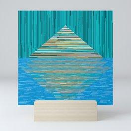 Mountain Lake Abstract Mini Art Print