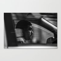 taxi driver Canvas Prints featuring Taxi driver by Nazariy Kryvosheyev