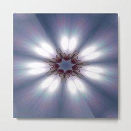 Sun Pole Starburst Mandala Metal Print
