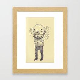 Staring Framed Art Print