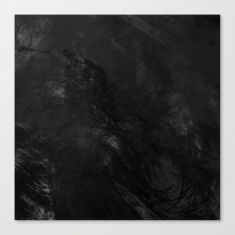 Painted B&W Canvas Print