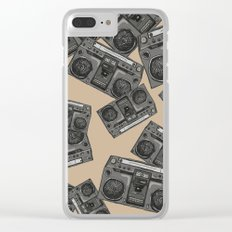 Boom boxs falling Clear iPhone Case
