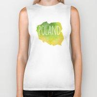 poland Biker Tanks featuring Poland by Stephanie Wittenburg