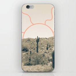 Wonder Rift // Abstract Vintage Mountains Summer Sun Surfer Beach Vibes Drawing Happy Wall Decor iPhone Skin