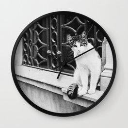 Istanbul Cat Wall Clock