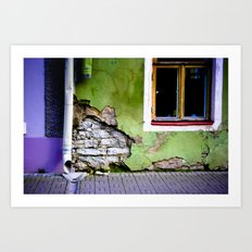 Worn Away Art Print