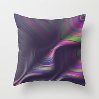 novelty Throw Pillows featuring Novelty Waves 2 by Mario De Meyer