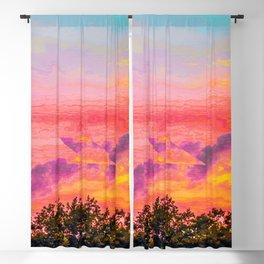 Cutting Through Sunset Skies Blackout Curtain