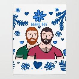 Beard Boy: Couple of Men - Karl & Daan Poster
