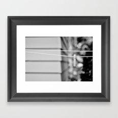 the line Framed Art Print