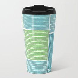 Turquoise & Lime Patches Travel Mug