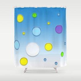 FLYING BALLS BLUE Shower Curtain