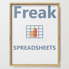 Funny Accounting CPA Tax Spreadsheets product Serving Tray
