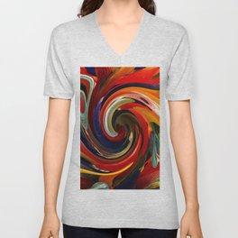 Colorful Swirl Unisex V-Neck