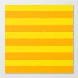 Yellow Horizontal Stripes Graphic Canvas Print