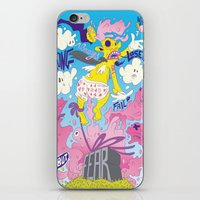 fear iPhone & iPod Skins featuring Fear by Matteo Cuccato - Strudelbrain