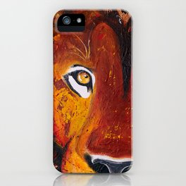 Lion - Wild and free - by LiliFlore iPhone Case