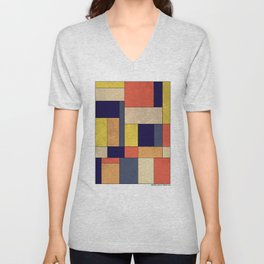 Abstract #350 Unisex V-Neck