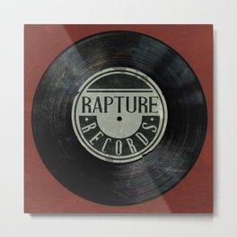 Bioshock Rapture Records Clock Metal Print