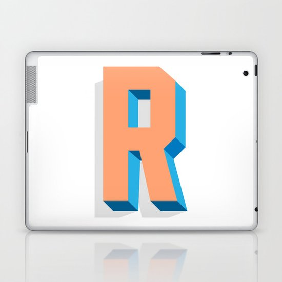 Letter R Laptop & iPad Skin