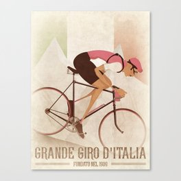 Giro D'Italia Cycling Race Italian Grand Tour Canvas Print