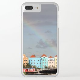 Rainbow over Willemstad Curaçao Clear iPhone Case