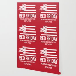 Red Friday RED American Flag Military Wallpaper