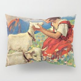 Jessie Willcox Smith - Heidi, Girl Of The Alps - Digital Remastered Edition Pillow Sham