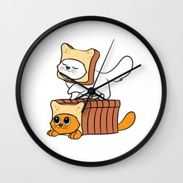 """Cute and adorable """"Purebread Cats"""" Tee design. Perfect gift for your family and friends this holiday Wall Clock"""