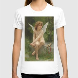 """William-Adolphe Bouguereau """"Love on the Look Out"""" T-shirt"""