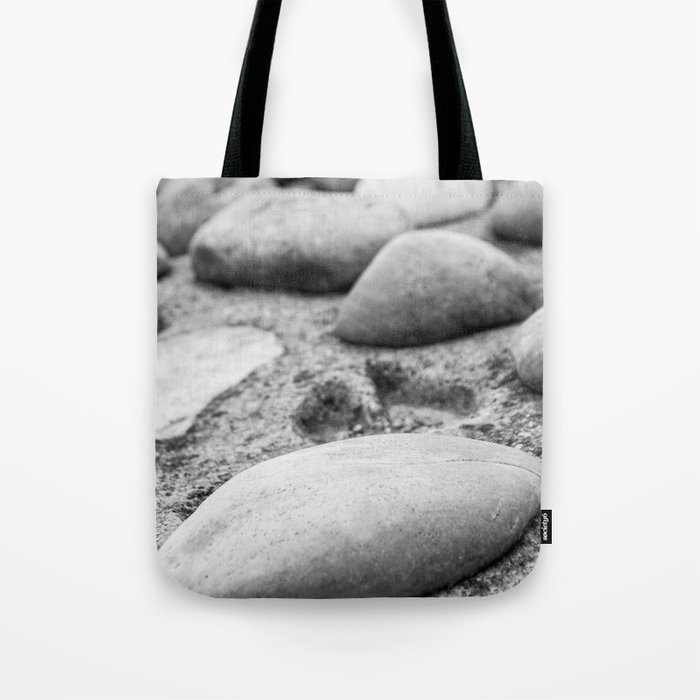 Black and White Stones Tote Bag