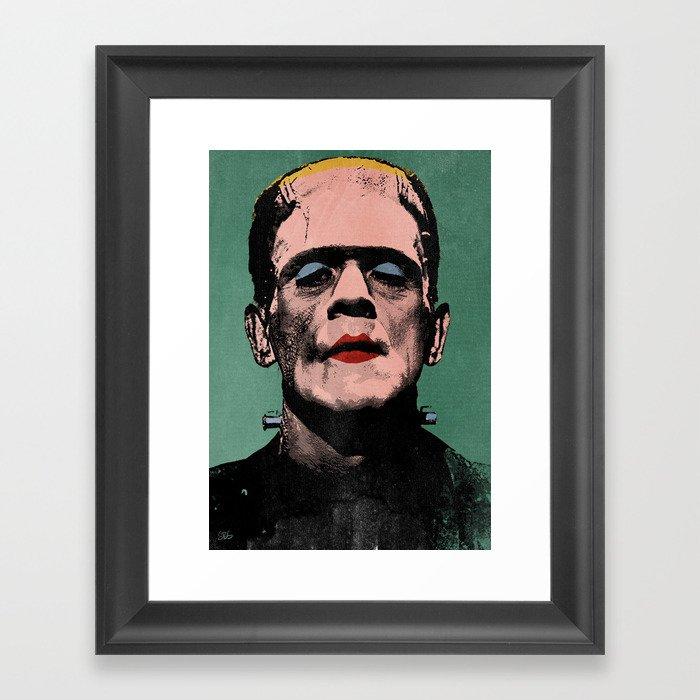 The Fabulous Frankenstein's Monster Framed Art Print