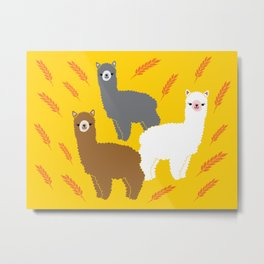 The Alpacas Metal Print