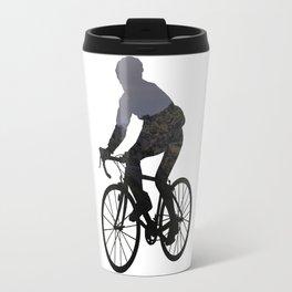 Cyclist landscape Travel Mug