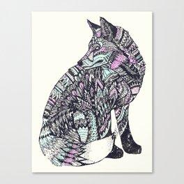 psychedelic fox Canvas Print