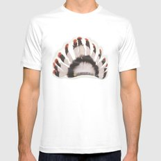 Headdress MEDIUM White Mens Fitted Tee