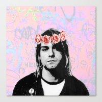 kurt rahn Canvas Prints featuring Kurt..  by pinkundaztood