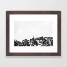 Minimalist Mountain Framed Art Print