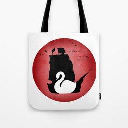 CAPTAIN SWAN (Red) Tote Bag