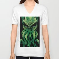cthulhu V-neck T-shirts featuring Cthulhu by PCRK