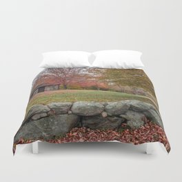 Babson Museum on a rainy October day 10-24-18 Duvet Cover