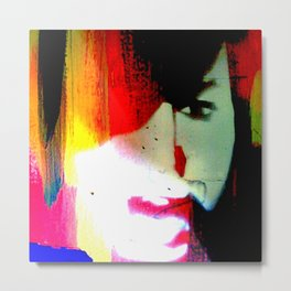 street art face Metal Print