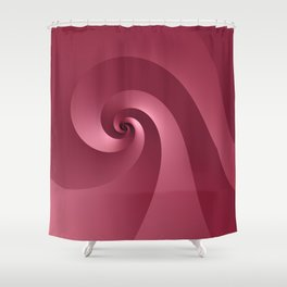 Rose-colored Wave Shower Curtain