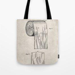 Toilet Paper Patent - Bathroom Art - Antique Tote Bag