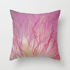 Mimosa Bloom Throw Pillow