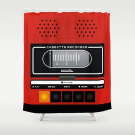 red recorder Shower Curtain