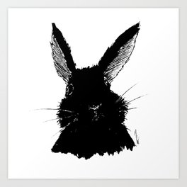 Black Bunny Art Print