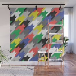 Multicolor houndstooth Wall Mural
