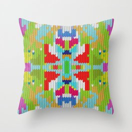 Abstract buterfly Throw Pillow