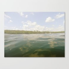 Water Reflection Sky Clouds Nature Trees Color Photography Canvas Print